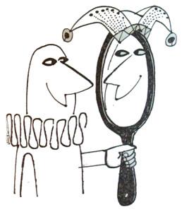 Narr im Spiegel